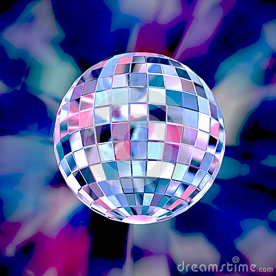Disco ball colorful party background