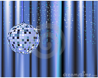Disco ball, curtains, celebrat