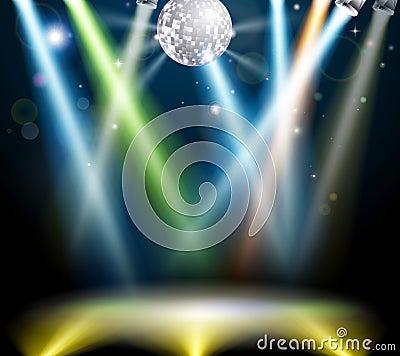 Disco ball dance floor