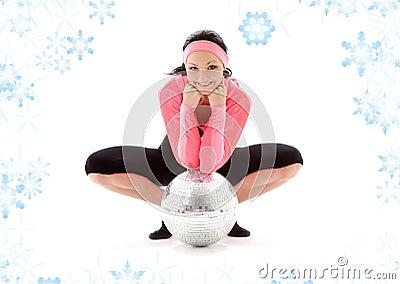 Disco ball dancer