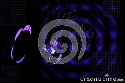 Disco ball and disco lights