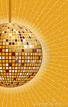Disco ball gold