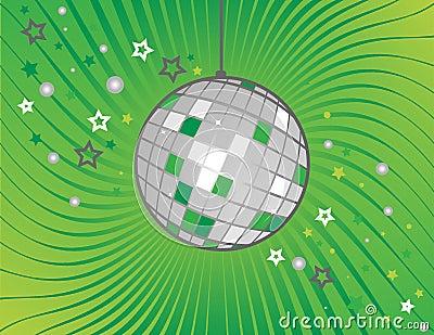 Disco ball on green