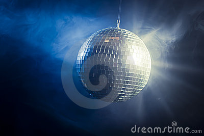 Disco ball with light rays