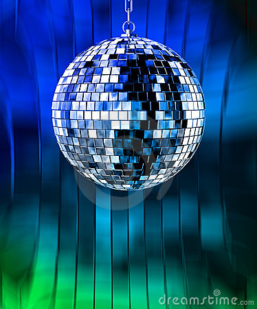 Disco ball with lights