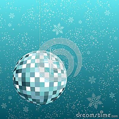 Disco ball snowflake