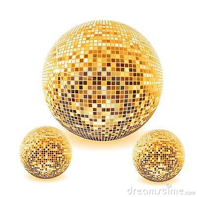 disco ball in various colors  illustration