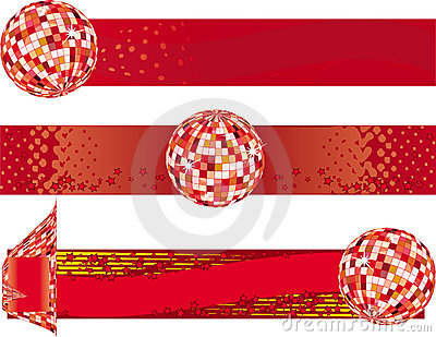 Disco Banners Royalty Free Stock Photo - Image: 12368515