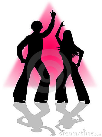 Disco Dance Couple Royalty Free Stock Images - Image: 1302819