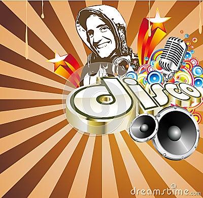 Disco Dance Event Background