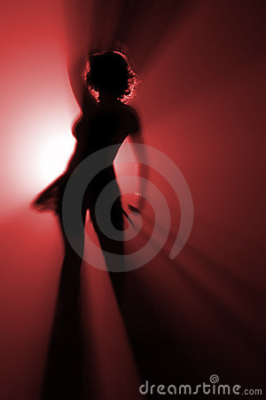 Disco dancer in red color