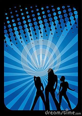 Disco dancers background