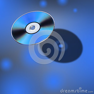 Disco de DVD na vista 3D