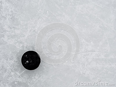 Disco de hóquei no gelo