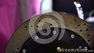 Disco do freio de carro e calibre do freio filme