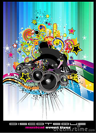 Disco Event Background with colorful elements