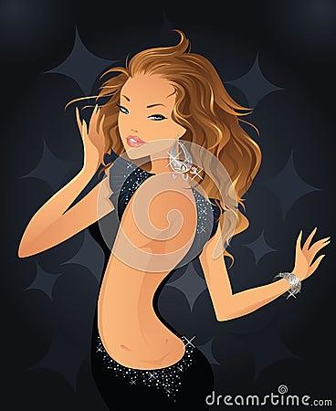 Free Disco Girl Royalty Free Stock Image - 6064356