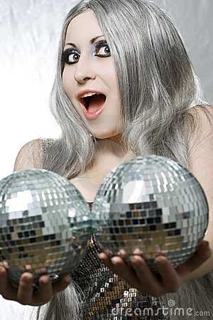 Free Disco Lady Stock Photography - 13932482