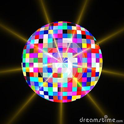 Disco Mirror Glitter Ball Royalty Free Stock Photo Image