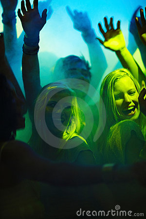 Disco - Modern young teenagers partying at a club