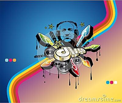 Disco-Musik-Ereignis-Hintergrund