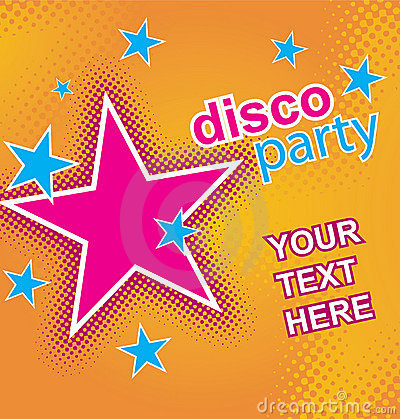 Disco party flayer. Vector.