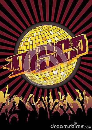 Disco Party Flyer Graffiti