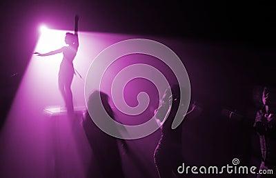 Disco party in violet color