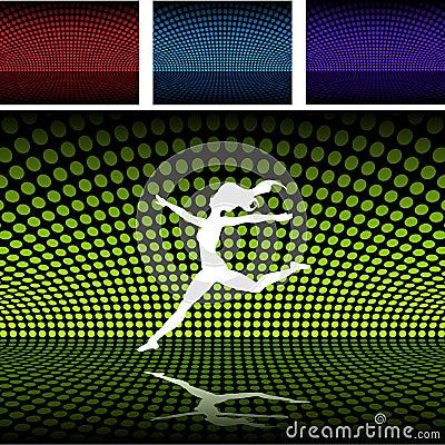 Disco platform with balett girl