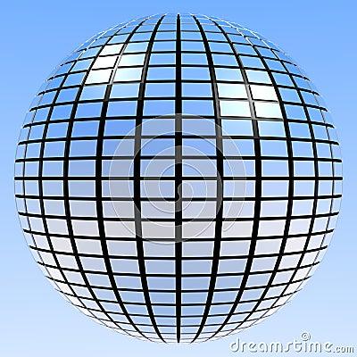 Disco Retro Party Mirror Ball Mirrorball