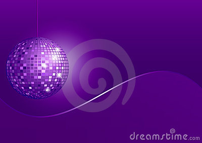Disco Sphere Disco Sphere on Violet Background