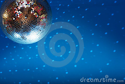 Discoball in night club