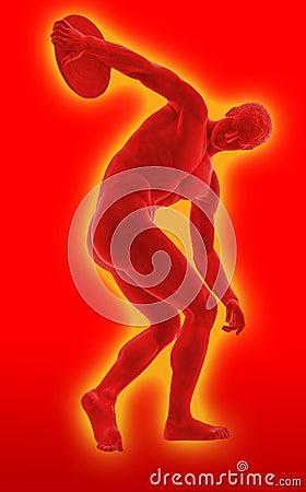 Discobolus sport icon