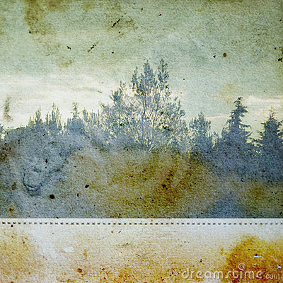 Discolorated forest