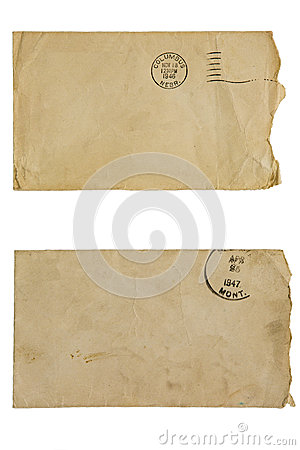 Free Discolored Blank Envelopes Isolated Mail Collage Royalty Free Stock Photography - 36207347