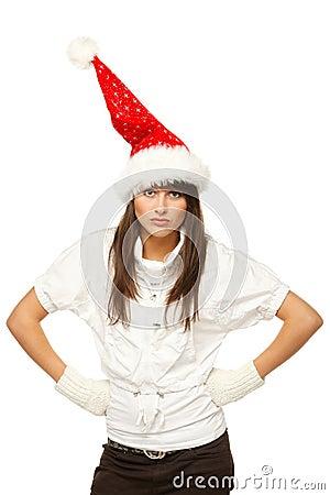 Discontent Santa girl