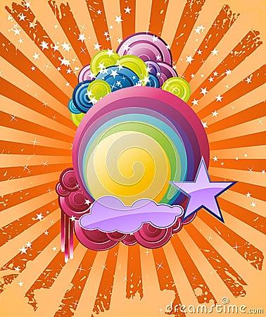 Discotheque rainbow banner