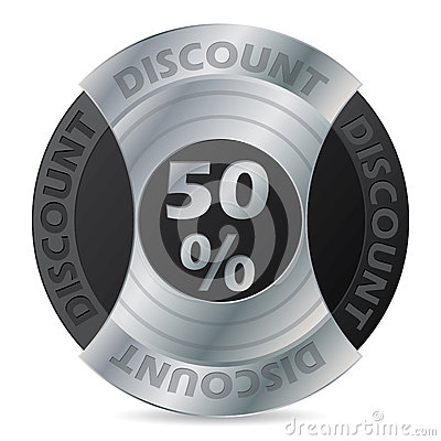 50% discount badge design