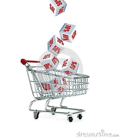 Free Discount Cart Stock Photos - 14777993