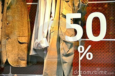 Discount concept of a clothing store
