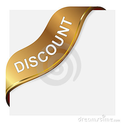 Discount  golden corner ribbon