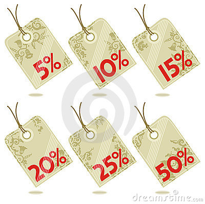 Discount hang tags design elements