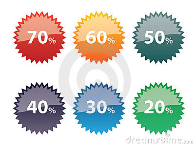 Discount icon set