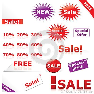 Discount icons & labels