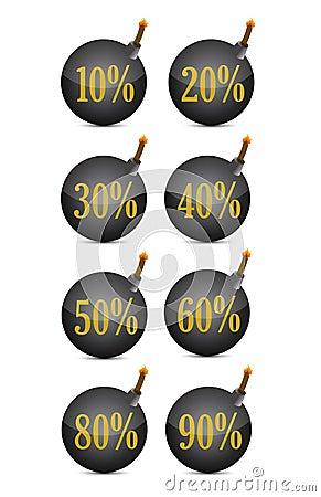 Discount percentage bomb