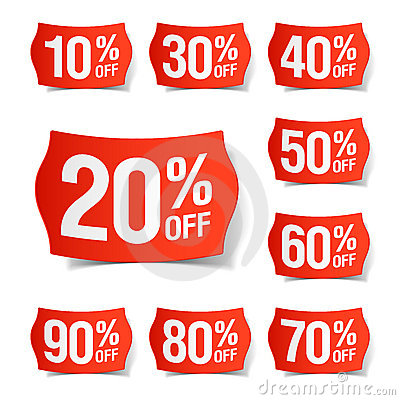 Free Discount Price Tags Stock Image - 18155261