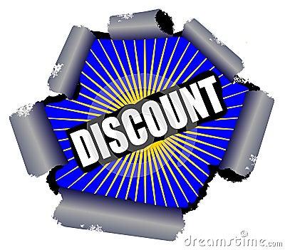 Discount Rupture Sign