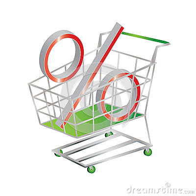 Discount symbolized