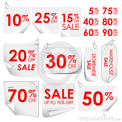 Free Discount Tags Royalty Free Stock Photography - 18249407