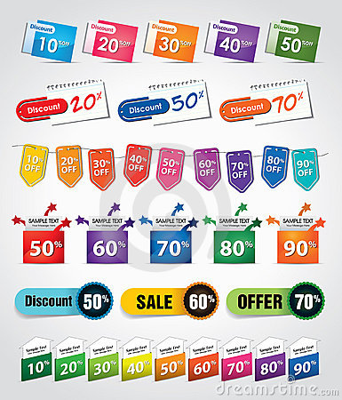 Discount tags & labels